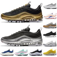 97 QS Running Shoes For Men Women New Balck Metallic Gold South Beach PRM  Yellow Triple White 97s Sports Sneakers Size 36-45 ed983ad18