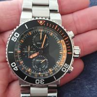 reloj de grandes buceadores al por mayor-El reloj de lujo para hombre de negocios de 48 mm completo reloj cronógrafo buzo de acero inoxidable Japón causales relojes luminosos hombre impermeables Dail grandes
