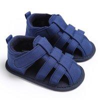 pamuklu yenidoğan sandaletleri toptan satış-Yeni Yaz Bebek Sandalet Yenidoğan Bebek Ayakkabı Nefes Hollow Boy Sandalet Pamuk Moda Kızlar