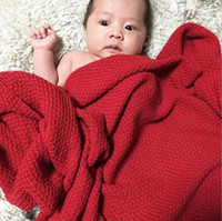 Wholesale soft beds for babies online - Baby Blanket Knitted Newborn Swaddle Wrap Blankets Super Soft Toddler Infant Bedding Quilt For Bed Sofa Basket Stroller Blankets MMA1277 p