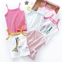 Wholesale kids cotton singlets resale online - Cotton Kids Camisole Baby Girls Vest Cartoon Printed Children Multiple Styles Undershirts Tops Summer Singlet Teenager Tanks