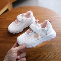 Wholesale shose sport for sale - Group buy Girls Shoes Tennis Sporty Running Shoe White Small Daisy Flowers Children s Sports Shoes Little Kids Sneakers Gym Shose New