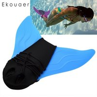 Wholesale swim fins for sale - Group buy Adult Kids Swimming Fins Children Training Flipper Monofin Mermaid Swim Fin Swimming Foot Flipper Diving Feet Tail Monofin New