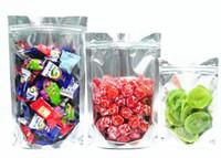 alüminyum çanta paketi toptan satış-17 Boyutları Alüminyum Folyo Temizle Açılıp Kapanabilir Vana Fermuar Plastik Perakende Ambalaj Koku Geçirmez Çanta Zip Kilit Mylar Çanta Kilitli Paket Torbalar