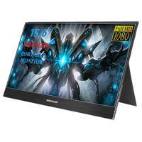 monitor lcd hdmi venda por atacado-SIBOLAN NOVO S3 15,6 polegadas IPS LCD 1920 x 1080 Monitor portátil com dupla entrada HDMI Mini (espessura de 5 mm)