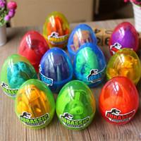 Wholesale plastic park resale online - 12pcs a Jurassic Dinosaur World Egg Doll Toys Park Dinosaur Egg Toys Surprise Eggs Random Models