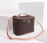 Wholesale makeup totes for sale - Group buy Bucket bag for women classic Cosmetic Case leather women shoulder bag Tote handbags presbyopic purse makeup case purse Cosmetic bag nice bb