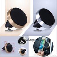 universal-silikon-gps-halter großhandel-Universal Magnetische Auto Air Vent Halter Ständer Halterung Für Handy Gps Aluminium + Silikon Auto Air Vent Ständer