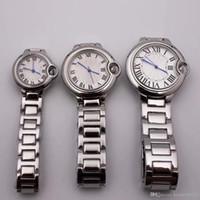 mavi çift saat toptan satış-Yeni Stil klasik mavi balon İzle 42mm 35mm 28mm lüks çift İzle lüks paslanmaz çelik safir İzle Kuvars saat orologi da uomo