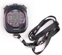 dijital sayaçlar sayaçları toptan satış-SEWEAN Kronometre SW8-3100 Dijital Kronograf 1/100 saniye Spor dur izle Sayaç zamanlayıcı 3 satır 100 anılar Lap bölünmüş