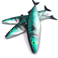 Wholesale marlin lures resale online - hollow mackerel big fishing lures soft plastic fish skin fishing tackle giant tuna and marlin lure