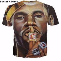 ingrosso magliette spandex in vendita-Vendita calda Cosmos Uomini di vendita calda Donne T-shirt di marca Star Lebron James O-Collo Stampa 3D Moda T Shirt 2017 Stile di estate Casual Tee Shirts