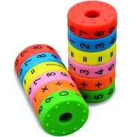 montagem de jogos venda por atacado-6 pcs puzzles magnéticos jogos de mesa montessori jogo de tabuleiro educativo brinquedo para crianças números de matemática diy montagem puzzles jogos de tabuleiro
