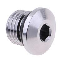 stecker o ringe großhandel-Perfeclan Tauchregler Hochdruckstecker Niederdruck-Anschlussstecker Schrauben Adapter 3/8 7/16 '' Mit O-Ring