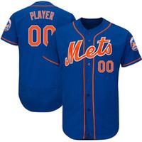 ny trikots großhandel-Mens Custom NY Mets Trikots Jacob deGrom Noah Syndergaard Mike Piazza Darryl Erdbeer Dwight Gooden David Wright Baseballtrikot
