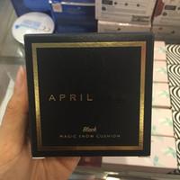 cojines coreanos al por mayor-Marca abril Nieve mágica del amortiguador de aire 15 g de la piel hidratante Fundación UV BB Maquillaje Crema de aceite de control de abril de Cuidado de Corea Cosméticos