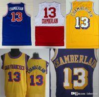 gelbe blaue basketball uniformen großhandel-NCAA Los 13 Wilt Chamberlain Jerses Neu Uniformen Rev 30 Neues Material Trikot Home Gelb Lila Weiß Blau H