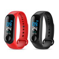 спортивные наручные часы оптовых-M3 Smart Band Браслет Часы сердечного ритма Активность Фитнес-трекер pulseira Relógios reloj inteligente PK fitbit XIAOMI apple watch