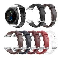 5s deri orijinal toptan satış-26 22 20 MM Garmin Fenix 5X5 için Watchband Kayış 5 5 S Artı 3 3HR D2 S60 İzle Gerçek Hakiki Deri Bilek Bandı Kayışı