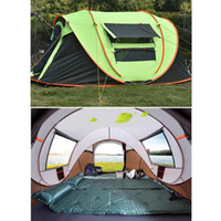 Wholesale waterproof camping tents resale online - Fully Automatic Instant Up Tent Waterproof UV Outdoor Camping Person Hiking Picnic Sunshade for Fishing Camping Park