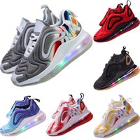 Wholesale red black brown blue wires for sale - Group buy 2019 Lighting Sneakers Kids Fly Wire Breathable Running Shoes Original Kids Zoom Air Built_in LED Lighting Cushioning Jogger Shoes
