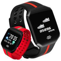 akıllı dokunmatik ledli saat toptan satış-Kalp Hızı Monitörü Spor Akıllı Izle Erkek Kadın Kare Arama LED Dokunmatik Büyük Ekran Smartwatch Yüzme Spor Akıllı Izle