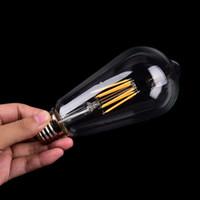 b22 e17 al por mayor-Lámpara LED E27 ST64 Edison vendimia E27 incandescente 110V-220V 2w 6w llevó 4w bulbo bombilla de Navidad luces de Navidad atmósfera