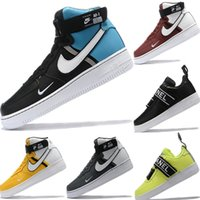Wholesale box borders resale online - With Box Forced High Top One Genuine Leather Splicing Skateboard Sneaker Original Forced High Top One Buffer Rubber Sports Shoes
