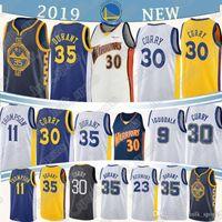 35 camisolas venda por atacado-1 Russell 30 Curry Jersey 35 Durant 23 verde 1 DAngelo 11 Thompson 9 lguodala camisola homens de basquete
