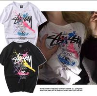 grafiti gömlek erkek toptan satış-Tanrı korkusu T gömlek Erkekler Kadınlar Yüksek Kalite Mesh Tees SIS T-Shirt Justin Biebe 2018 Kaykaylar Koleksiyonu Graffiti baskı Tee Gömlek