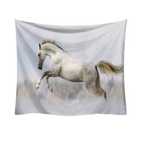 гобелены оптовых-Horse Patterns Tapestry Wall Hanging Mat Polyester Thin Blanket Yoga Shawl Mat Room Bedroom Decorative Tapestry w3-new-Lp-8