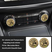 pegatina amg mercedes al por mayor-Mercedes GLA CLA Clase A Clase B Apple Tree Amg Aire acondicionado Ajuste perilla Cubierta Etiqueta interior