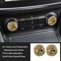 autocollants achat en gros de-Mercedes GLA CLA Classe B Classe Apple Tree Amg Climatiseur Bouton de réglage Cache autocollant intérieur