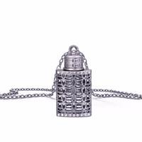 Wholesale vintage perfume bottle pendant for sale - Group buy Stylish Women Parfum Vial Crystal Pendant With Box Vintage Pendant Necklace Empty Perfume Bottle For Ladies