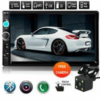 android für bildschirm auto großhandel-7 Zoll HD 2Din Touchscreen Auto Stereo MP5 Radio Android IOS USB / TF + Kamera Bluetooth / U Festplatte / TF Karte / AUX spielen