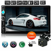 Wholesale tv car radios resale online - 7inch HD Din Touch Screen Car Stereo MP5 Player Radio Android IOS USB TF Camera bluetooth U disk TF card AUX play