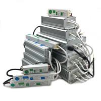 fuente de alimentación de 24v dc led al por mayor-DC 12V 24V LED Transformadores de iluminación del conductor 12V Fuente de alimentación 12V LED Driver 12 24 V voltios IP67 Transformadores de iluminación impermeables