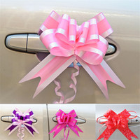 Wholesale wedding car ribbons resale online - 10PCS Bow knot Flower Packaging Gift Bags Bottle Pumping Garland for Home Party Wedding Car Decoration Festive Ribbons