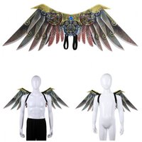 Wholesale blade cosplay for sale - Group buy Halloween Cosplay Carnival Blade Wing Costume Printing Non Woven Fabrics Adult Kid Wings Punk Party Supplies sz2 E1