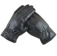 guantes de cuero al por mayor-Pantalla táctil guantes calientes Moda Nueva venta caliente Invierno guantes térmicos Hombres guantes de cuero Ciclismo Guantes de conducción pu guante impermeable