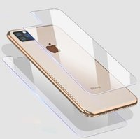 Wholesale iphone front back tempered for sale – best 2Packs With Retail Package Front Back Full Body Tempered Glass Screen Protector for iPhone Pro Max XR XS Max Plus