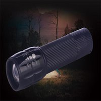 lanternas led china venda por atacado-Estoque Na China 2000LM LED Tochas Tático Lanternas LED Zoomable Tocha Luz Para 18650 ou 3xAAA Bateria CPL001