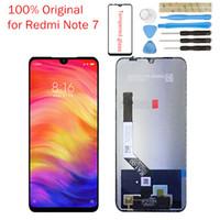 iphone 5s bezel değiştirme toptan satış-Orijinal xiaomi redmi note 7 için lcd ekran dokunmatik digitizer meclisi redmi note7 lcd ekran 10 nokta dokunmatik tamir parçaları