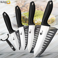 Wholesale chef cutter for sale - Group buy Ceramic Knife Inch Kitchen Chef Utility Slicer Paring Ceramic Knives Peeler Set White Zirconia Blade Cooking Cutter Tool