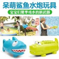 ingrosso giocattolo di coccodrillo di nuoto-La nuova forma animale del fumetto dello squalo del coccodrillo che pompa i bambini di estate dei bambini di estate del cannone dell'acqua gioca i giocattoli dell'acqua della piscina