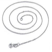 из нержавеющей стали длиной цепи ювелирных изделий оптовых-Simple Silver Waterwave Box O Chain Necklace Stainless Steel Alloy Necklaces For Women Long Thin 45 cm  Jewellery Wholesal
