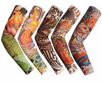el dövme desenleri toptan satış-Dövme Kol Çiçek Kol Kol Dövme Tasarımları Vücut Kol Çorap Dövme Serin Erkekler Kadınlar Için Yaz Sürme Spor Güneş geçirmez El Kol