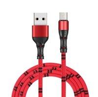 bambus-ladegerät großhandel-Bambusgelenk Micro USB-Kabel Schnellladegerät Kabel Nylon Geflochtenes USB-Ladegerät für Xiaomi Huawei LG Samsung Handy