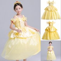 Wholesale play wedding dress for sale - Group buy Flower Girls Dresses Summer Girls Princess Baer Cosplay Tulle Tutu Dress Kids Ball Gown Halloween Role Play Party Birthday Dress Y