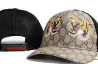 rotes gelbes grünes hysteresen großhandel-Hochwertige Knochen Curved Visier Casquette Baseball Cap für Frauen Einstellbare Golf Sport Luxus Hüte für Männer Hip Hop Tiger Hut Biene Cap